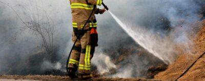 Gräsbrand vid Balkeröd