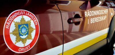 Brand i källare - Räddningstjänst på plats