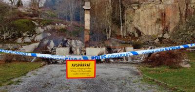 Villa brann ner - En person gripen misstänkt för mordbrand