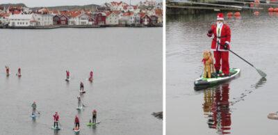Tomtar paddlade vid Klädesholmen
