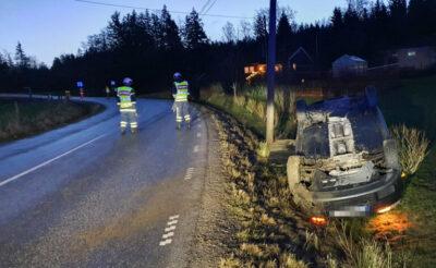Halt väglag - Körde av vägen vid Timmerhult