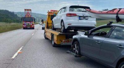 Trafikolycka på länsväg 169