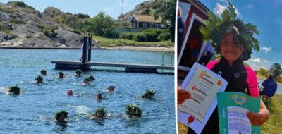 Avslutning för små och stora simmare