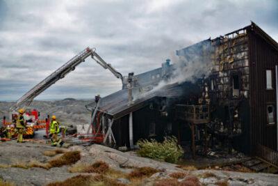 Brand på Smedjan i Skärhamn - Polisen misstänker brott