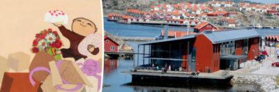 Gunilla Bergström donerar originalböcker om Alfons Åberg till Nordiska Akvarellmuseet