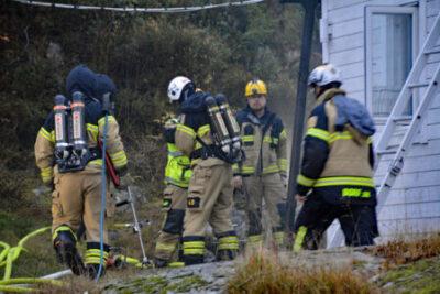 Brand i fastighet i Svartedalen